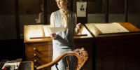 Downton AbbeyPart Three - Sunday,  January 17, 2016 at 9pm ET on MASTERPIECE on PBSA wedding dress drama takes a disastrous turn. The breakfast battle is settled. A handsome volunteer helps Edith meet a deadline. The hospital debate gets nasty. Shown: Laura Carmichael as Lady Edith (C) Nick Briggs/Carnival Film & Television Limited 2015 for MASTERPIECE This image may be used only in the direct promotion of MASTERPIECE CLASSIC. No other rights are granted. All rights are reserved. Editorial use only. USE ON THIRD PARTY SITES SUCH AS FACEBOOK AND TWITTER IS NOT ALLOWED.