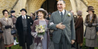 Downton AbbeyPart Three - Sunday,  January 17, 2016 at 9pm ET on MASTERPIECE on PBSA wedding dress drama takes a disastrous turn. The breakfast battle is settled. A handsome volunteer helps Edith meet a deadline. The hospital debate gets nasty. Shown from left to right: Phyllis Logan as Mrs. Hughes and Jim Carter as Mr. Carson (C) Nick Briggs/Carnival Film & Television Limited 2015 for MASTERPIECE This image may be used only in the direct promotion of MASTERPIECE CLASSIC. No other rights are granted. All rights are reserved. Editorial use only. USE ON THIRD PARTY SITES SUCH AS FACEBOOK AND TWITTER IS NOT ALLOWED.